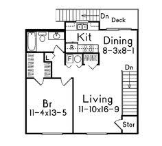 garage apartment plan for a narrow strip of property house plans