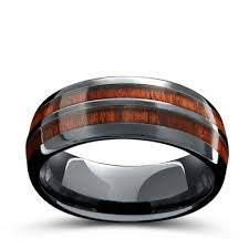 ceramic wedding bands barrel ceramic koa wood ring northernroyal