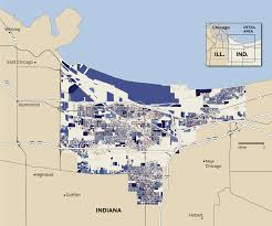 Indiana Road Conditions Map Gary Indiana Map Gary Indiana Property Survey Results Chicago