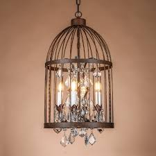 Entry Chandelier Online Shop Europe Antique Rust Wrought Iron Cage Chandeliers For