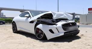 jeep jaguar jaguar f type r coupe wrecked in dubai autoevolution