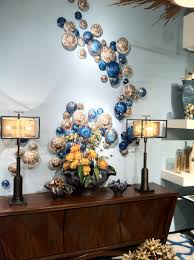 Mushroom Home Decor by A Fanciful Wall Display Featuring Blown Glass Mushrooms From