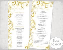 tea length wedding program template wedding program fan template scroll navy silver