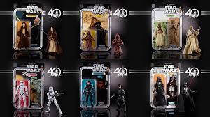 hasbro u0027s 40th anniversary star wars figures are an amazing throwback