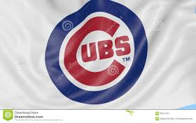 Cubs Flag Close Up Of Waving Flag With Chicago Cubs Mlb Baseball Team Logo