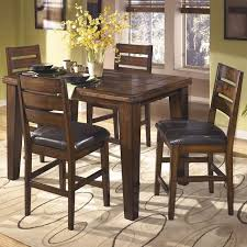 triangle counter height dining table ashley emory triangle counter height 5pc dining set