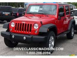 jeep wrangler red 2016 firecracker red jeep wrangler unlimited sport 4x4 107660042