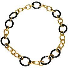 rose gold link necklace images Gucci 18 karat rose gold horsebit chain necklace at 1stdibs jpeg