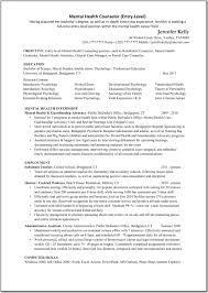 Resume Sample Objectives For Internship by Mental Health Counselor Resume Objective Free Resume Example And