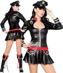 Womens Halloween Costumes Leather Sailor Costume Latex Police Costume Women Uniform
