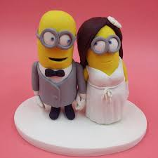 buy wedding cake cheap 8cm minions wedding cake topper dispicable me mini mrs mrs