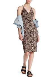 topshop dress topshop animal print plunge bodycon midi dress nordstrom rack