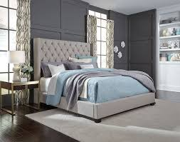 light grey upholstered bed westerly light grey queen upholstered bed set unclaimed freight