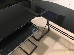 Black Glass L Shaped Desk Best Black L Shaped Computer Desk Designs Desk Design