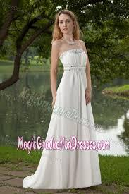high school graduation dress beautiful strapless beaded white graduation dress for high