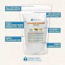 amazon com orange ginger bath salt 3 lbs 48 ounces epsom