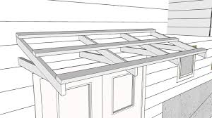 Building An Awning Over A Patio Building A Simple Roof Over A Door Part 1 Making A Bracket