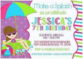 pool birthday party invitation wording swimming pool party