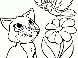 cat coloring pages printable coloring page for kids