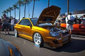 sell used authentic m sports widebody 2005 subaru wrx candy gold