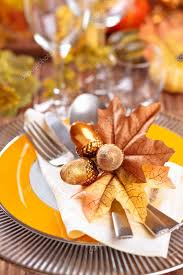 thanksgiving dinner decoration stock photo vitaina 125103464