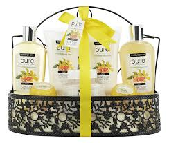 Spa Gift Baskets For Women Spa Gift Basket By Pure Beautiful Metal Basket Gifts For Women