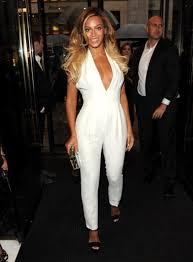 white jumpsuit jumpsuit beyonce white jewels halter neck wheretoget