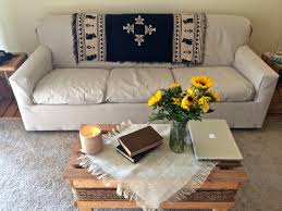 Diy Sofa Slipcover by Diy No Sew Couch Cover Post College Stress Disorder