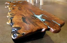 live edge table with turquoise inlay solid wood live edge table with turquoise inlay sr a western