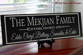 5th wedding anniversary gifts for him custom family sign personalized anniversary gift 5th anniversary