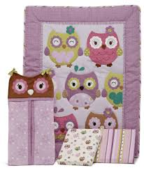 Purple Nursery Bedding Sets by Cute Owl Crib Bedding Set Home Inspirations Design