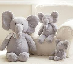 elephant plush collection pottery barn kids