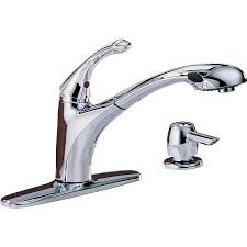 lowes delta kitchen faucets shop delta debonair chrome 1 handle pull out deck mount kitchen