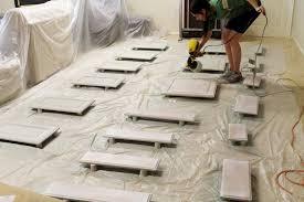 painting kitchen cabinets with sprayer kitchen decoration
