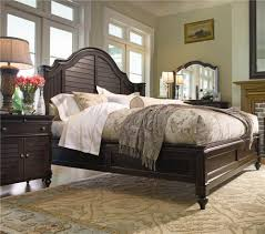 king steel magnolia bed with panel headboard and low footboard by