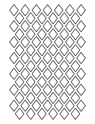 1 inch diamond pattern use the printable outline for crafts