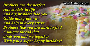 Happy Birthday Wishes To Big Brothers Are The Perfect Role Models Birthday Wish For Brother