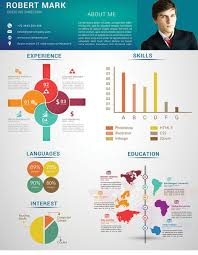 modern info graphic resume cover letter tariq ahmad pulse