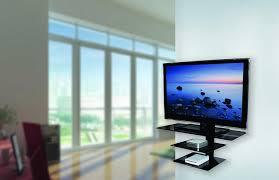Tv Cabinet Wall Mounted Amazon Com Avf Ps933pb A Wall Mounted Tv Stand Glass Shelving