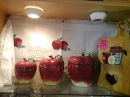 Red Kitchen Canister by Apple Kitchen Decor Canisters Light Switch Plate Apple Kitchen
