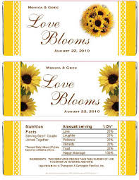 sunflower wedding favors lmk gifts sunflower candy wrappers favors