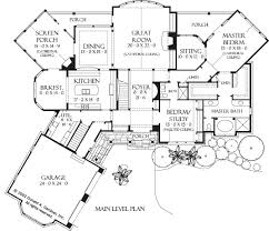 Kitchen And Great Room Floor Plans Home Plan The Oak Abbey By Donald A Gardner Architects