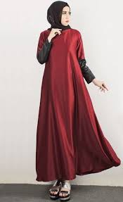 dress pesta dress pesta muslim merah marun yang simple resep untuk dicoba