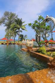 the tropical nature scenic and pool view tropical island in