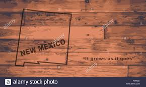 New Mexico State Map by New Mexico State Map Brand On Wooden Boards With Map Outline And