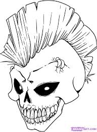 cool drawings dragon skulls draw skull step step