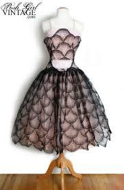 1950 u0027s pink u0026 black lace prom party dress vintage wedding dresses
