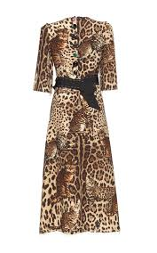 bengal cat print belted dress by dolce u0026 gabbana moda operandi