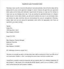 lease termination letter templates 18 free sample example