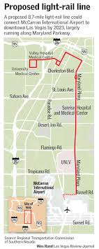 las vegas light rail rtc gets ok to seek funding for light rail line along maryland